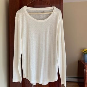 Madewell large, long sleeve tee. Size  Large